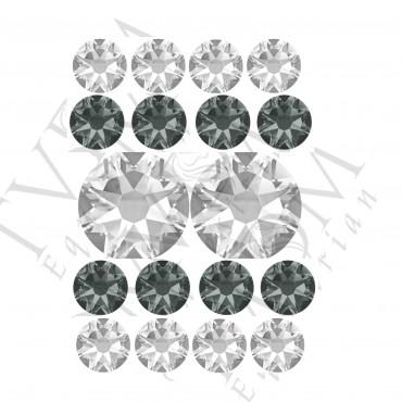 Gray and White 5 Row U shape